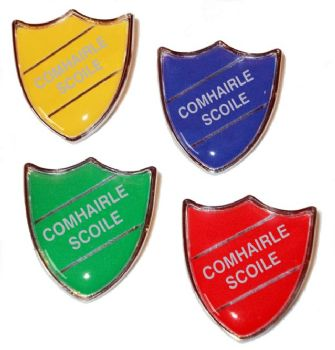 COMHAIRLE SCOILE shield badge